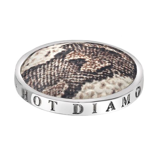 Hot Diamonds Emozioni Silver Plated Stainless Steel Faux Snake Coin - Large 33mm EC086